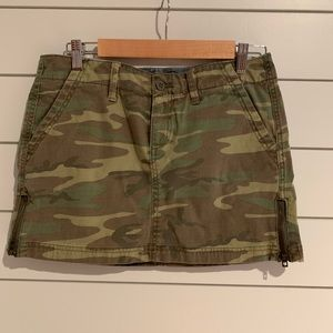 Lucky Brand Short Camo Skirt